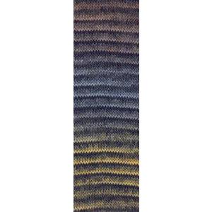 Lang Yarns Jawoll Magic 26  Bruin/jeans/zwart
