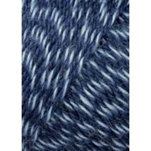 Lang Yarns Jawoll Superwash Jeansblauw/wit (58)