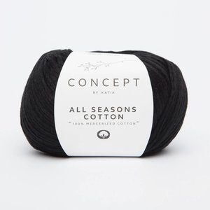 Katia All Seasons Cotton 2 Zwart