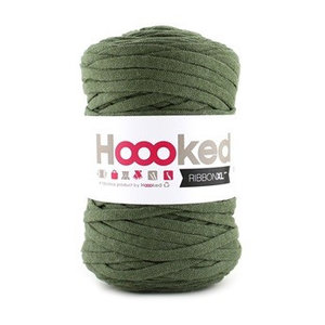 Hoooked Ribbon XL Olive green (RXL42)