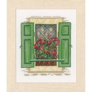 Vervaco Borduurpakket raam met groene luiken