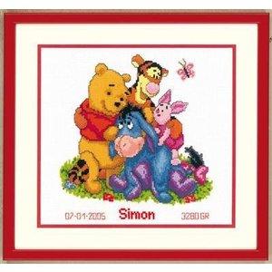 Vervaco Borduurpakket Winnie the Pooh en vrienden