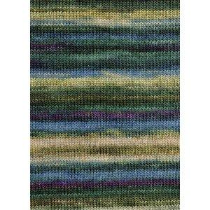 Lang Yarns Merino Dipinto 18 bruin/beige/groen/blauw/roze