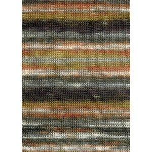 Lang Yarns Merino Dipinto 68 wit/bruin/groen/oranje/zwart