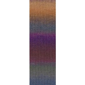 Lang Yarns Mille Colori Socks & Lace 90 paars / oranje