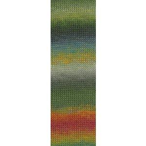 Lang Yarns Mille Colori Socks & Lace 97 groen / blauw / rood