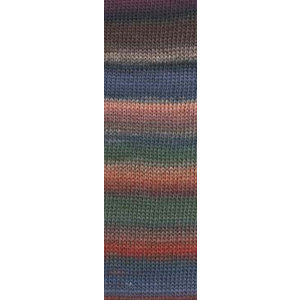 Lang Yarns Mille Colori Socks & Lace Luxe 16 groen / bruin / oranje