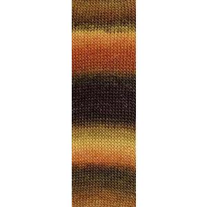 Lang Yarns Mille Colori Socks & Lace Luxe 68 Bruin/Oranje