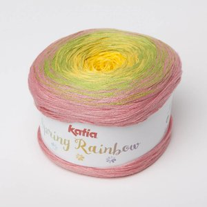 Katia Spring Rainbow Bleekrood/Pistache/Geel (68)