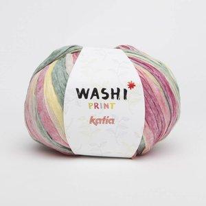 Katia Washi print (312) bleekrood/geel/groen