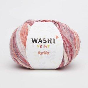 Katia Washi print (313) bleekrood/ecru/oranje