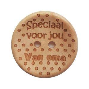 CuteDutch Houten knoop - Speciaal voor jou van oma 25 mm