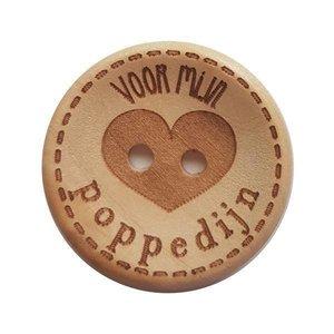 CuteDutch Houten knoop - Voor mijn poppedijn 25 mm
