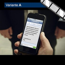 """Video """"Gefälschter SMS-Absender"""" szenisch"""