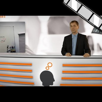 "moderiertes Video ""Meeting Raum, Whiteboards"""