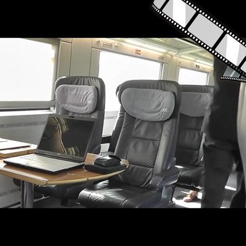 """szenisches Video """"Einsamer Laptop im ICE"""""""