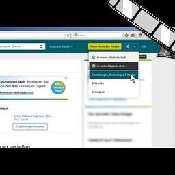 """Video """"Xing, Informationsschutz richtig einstellen"""" moderiert"""