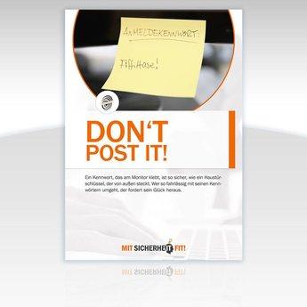 "Awareness-Plakat ""Don't post it!"" - Motiv rund"