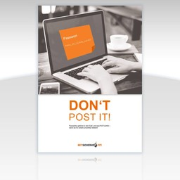 "Awareness-Plakat ""Don't post it!"" - Motiv eckig"