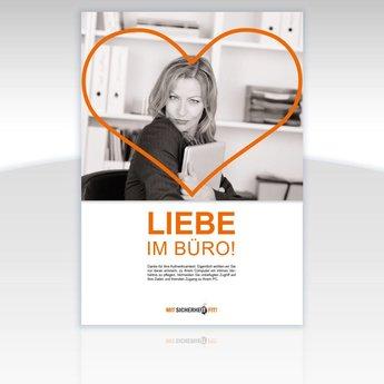 "Awareness-Plakat ""Liebe im Büro!"" - Motiv eckig"