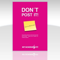 "Awareness-Plakat ""Don't post it!"" - einfarbig"