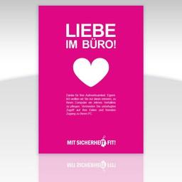 """Awareness-Plakat """"Liebe im Büro!"""" - einfarbig"""