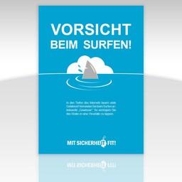 """Awareness-Plakat """"Vorsicht beim Surfen!"""" - einfarbig"""
