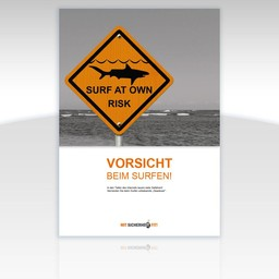 """Awareness-Plakat """"Vorsicht beim Surfen!"""" - Motiv eckig"""