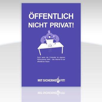 """Awareness-Plakat """"Öffentlich nicht privat!"""" - einfarbig"""