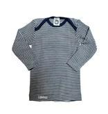 Cosilana Wolle/Seide Babyhemd langarm Ringel