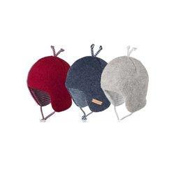 Pure Pure PurePure Babymütze Wollfleece mit Bändern