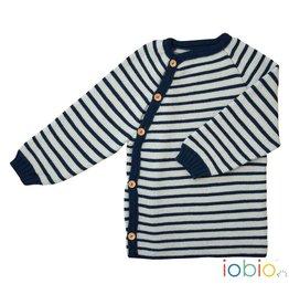 Popolini / Iobio Iobio Woll Schlütly marine/hellgrau