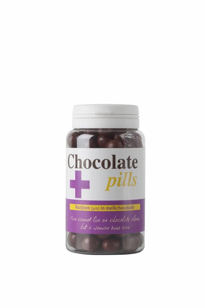 Chocoladepillen met rozijnen