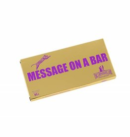 The Chocolate Line By Dominique Persoone Message on a bar - Ready to Go
