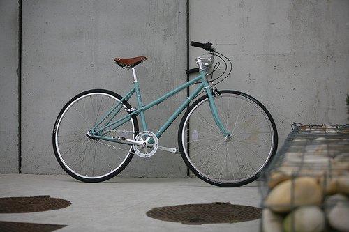 PELAGO BICYCLES Damesfiets Pelago Capri - Turquoise 54cm(M) - 3 Versnellingen, velgrem voor en achter