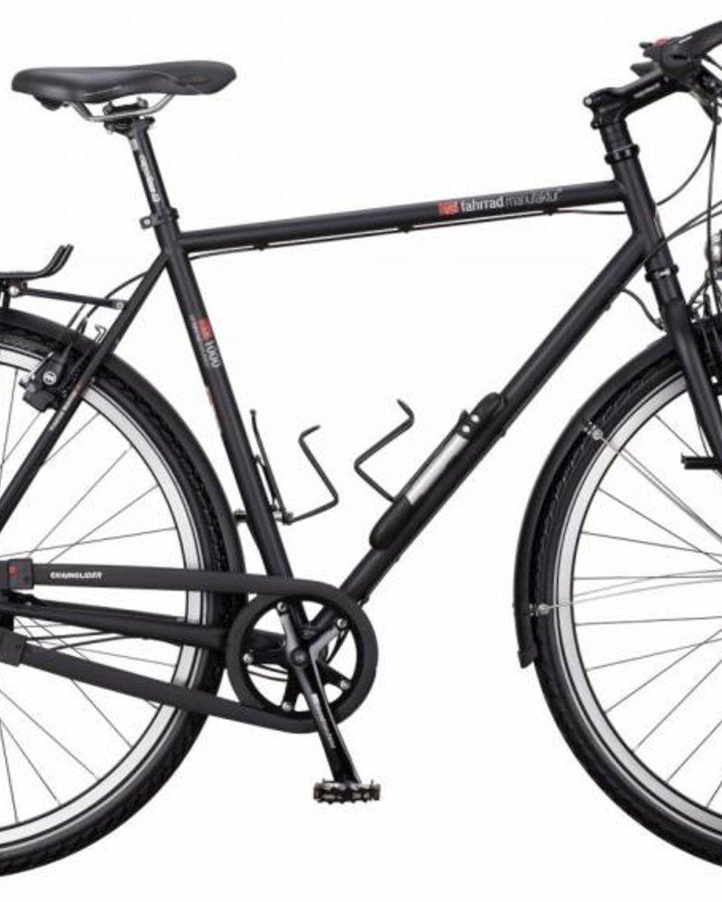 VSF FAHRRADMANUFAKTUR Herenfiets VSF Fahrradmanufaktur Expedition TX-1000 - ebony mat (zwart) 57cm - Rohloff speedhub 14 Versnellingen, hydraulische velgrem