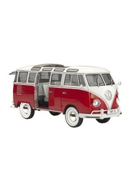 Diecast Model Red VW T1 camper