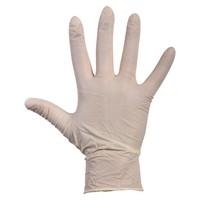 Witte Latex wegwerp handschoenen 1000 stuks gepoederd wit