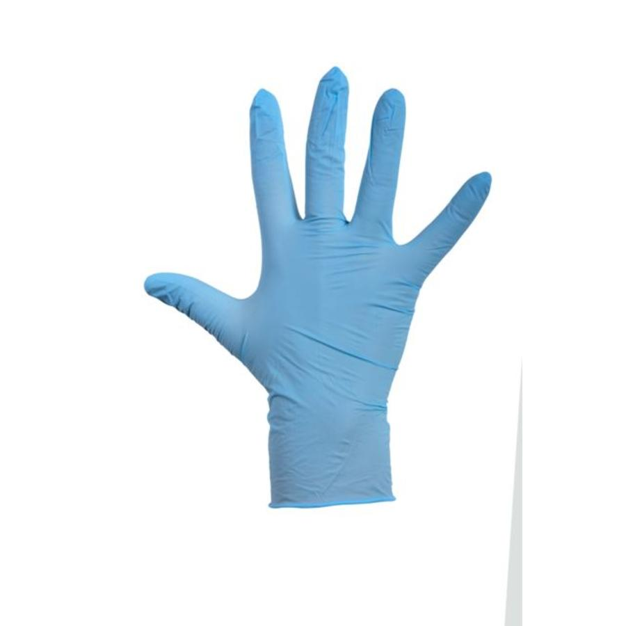 Latex Handschoen gepoederd blauw