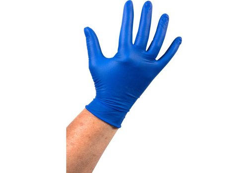 Latex Handschoen ongepoederd blauw