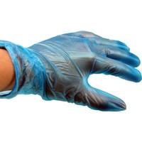 Vinyl wegwerp handschoen 1000 stuks gepoederd blauw S M L XL