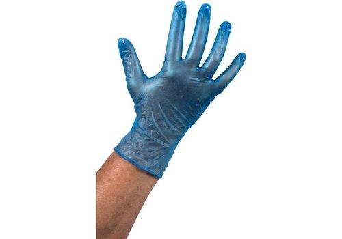 Vinyl Handschoen ongepoederd blauw