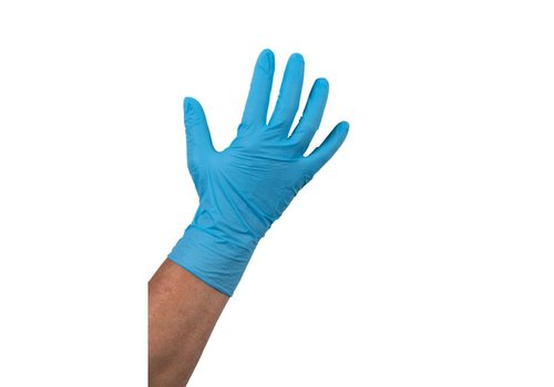 Nitril Handschoen ongepoederd blauw