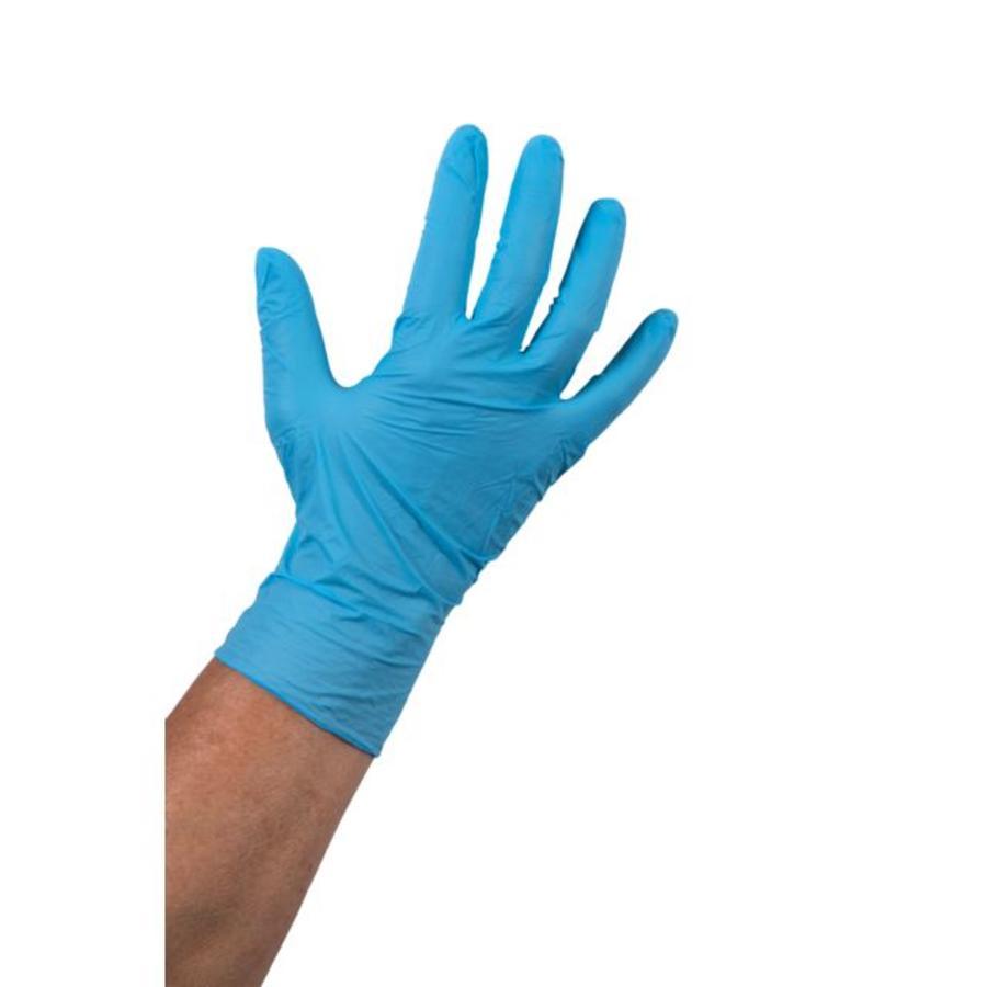 Nitril 1000 stuks wegwerp handschoenen ongepoederd blauw