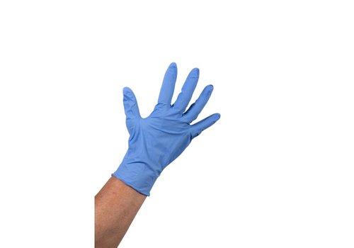 Blauwe Nitril Heavy Duty Handschoen ongepoederd - 1000 stuks