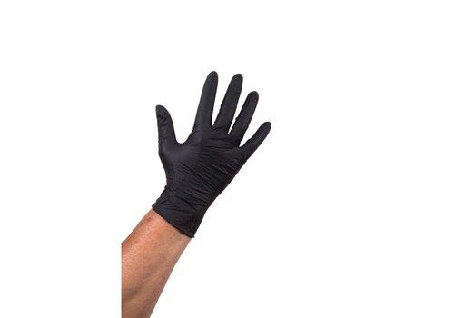 Nitril Handschoen ongepoederd zwart