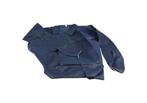 Wegwerp overall Non Woven Jas blauw klittenband