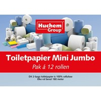 Toiletpapier Mini Jumbo 12 rollen 180m 2 laags