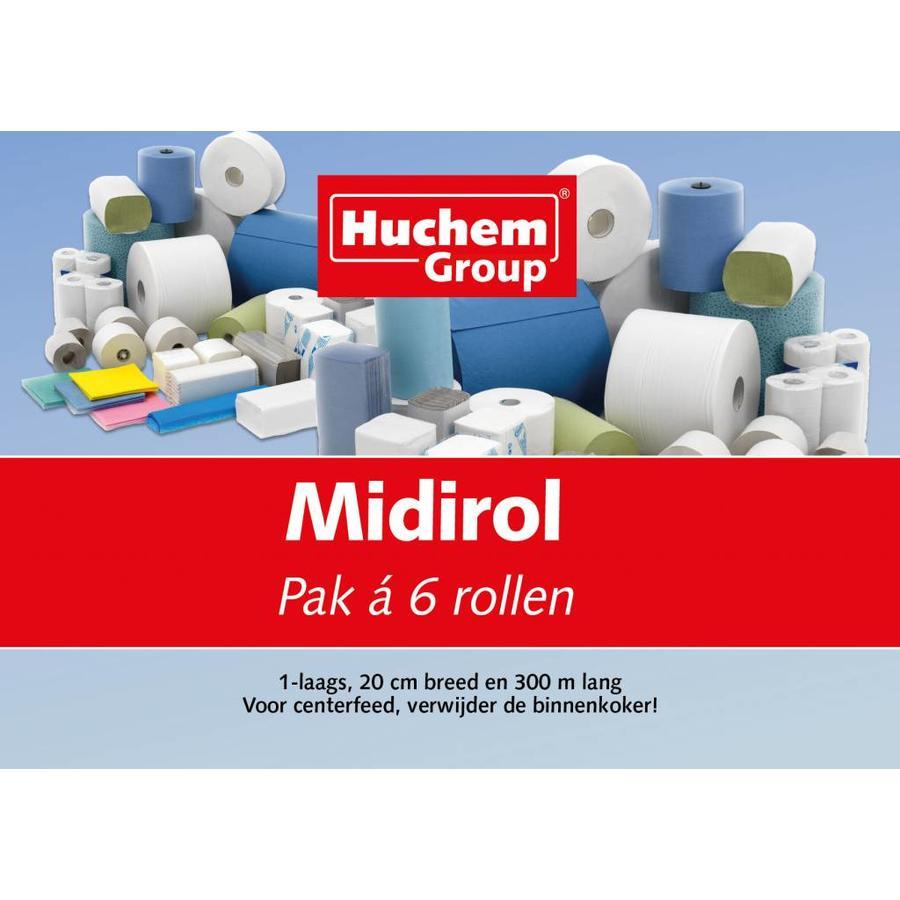 Handdoek Rol Midi 6 stuks 300m 1laags