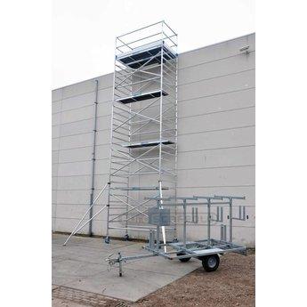 Euroscaffold Steigertransporter met rolsteiger 10,2 meter werkhoogte